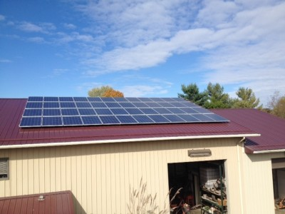 Solar PV System On A METAL ROOF