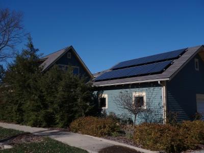 Solar PV System On A GARAGE