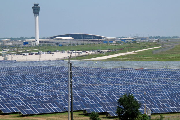 17,500 KW PV SYSTEM At Indy Airport, 88,000 Panels